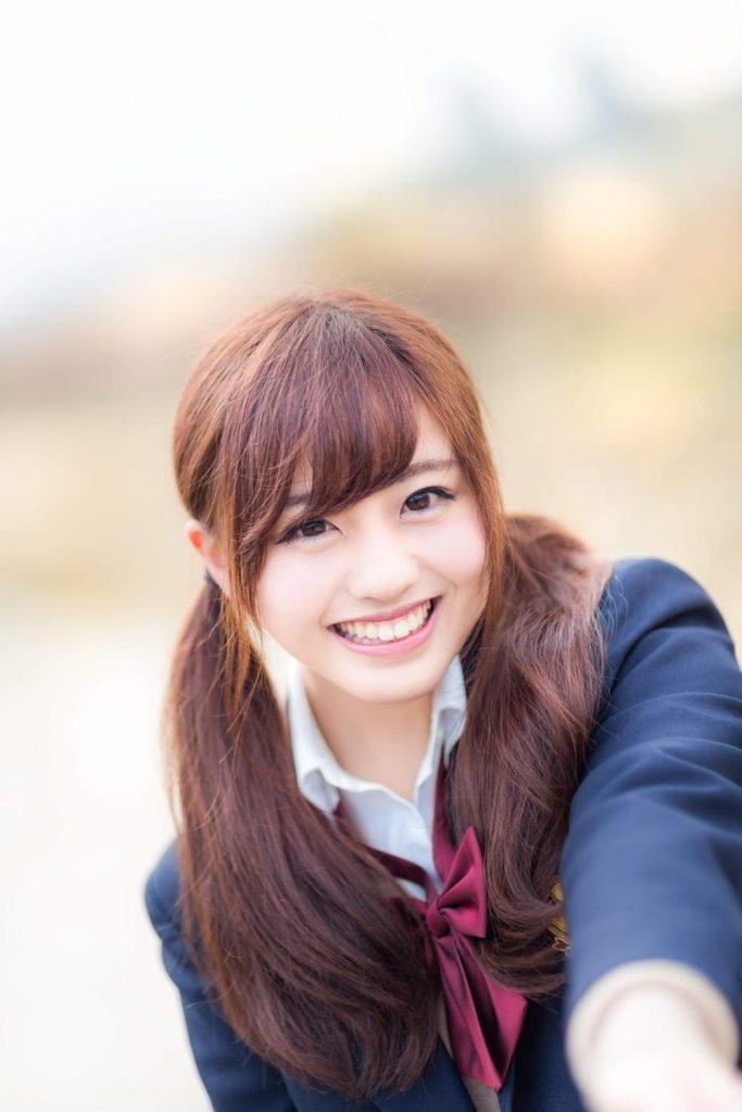 かわいい彼女の笑顔